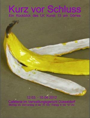 Plakat zur Ausstellung des LK 13 im Verwaltungsgericht  12.03.12 - 10.04.12
