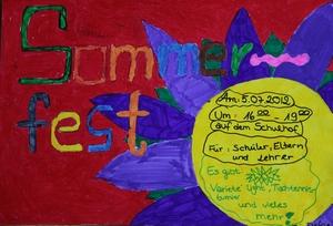 Plakat zum Sommerfest 2012