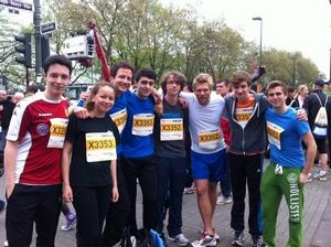 Teilnehmer am Düsseldor-Marathon -2