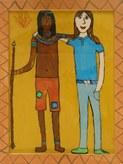 Hinterglasbild, Jodie, 6a, 2009-10